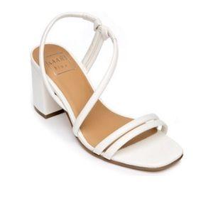 NEW Kaari Blue Luarel Nlock Heel Sandal White